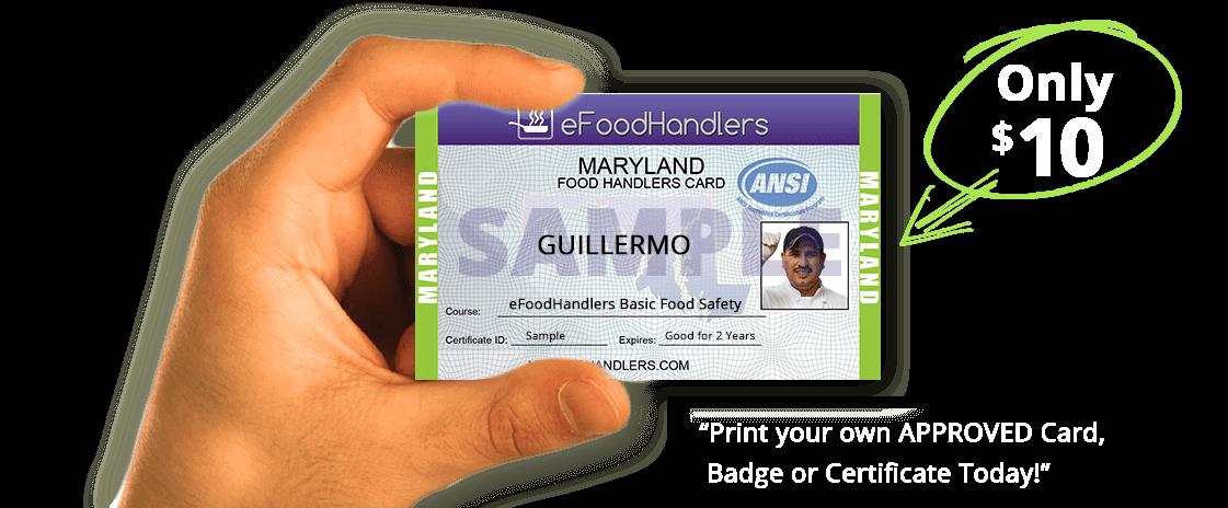 Maryland Food Handlers Card Efoodhandlers 10
